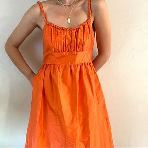 J. Crew collection silk orange dress